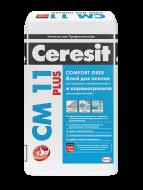 Клей Ceresit СМ11 25кг д/крепл. керам.плитки д/внутр. и наруж. работ,