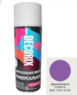 Аэр. эмаль DECORIX A12 Фиолетовый 520мл/12/