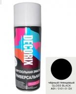 Аэр. эмаль DECORIX A01, Черный глянц. 520мл/12/