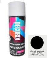 Аэр. эмаль DECORIX A02 Черный матовый 520мл/12/