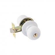 ЗШ-01 (белый) Защелка м/к (ключ/фикс.)