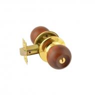 ЗШ-01 (тем.дерево/золото) Защелка м/к (ключ/фикс.)
