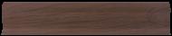 Плинтус Лайн Пласт Матовый Дуб мореный LТ019