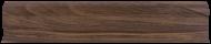 Плинтус Лайн Пласт Орех темный L017