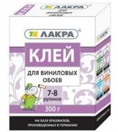 Клей ЛАКРА д/винил. обоев 300г 7-8 рулонов /12/