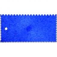 Шпатель пластиковый зубчатый (Л-С)