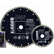 Диск алмазный ТУРБО D230*d22.2*2.5*8 Zigger PF /25/