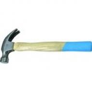 Молоток - гвоздодер ков. дерев. ручка 450г.(Л-С)