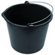 Ведро строительное мерное 16л черный